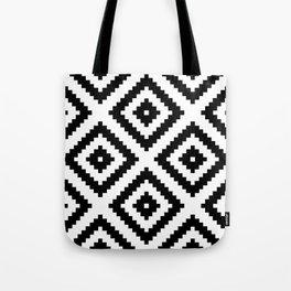 Tribal W&B Tote Bag