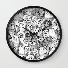 love and hugs Wall Clock