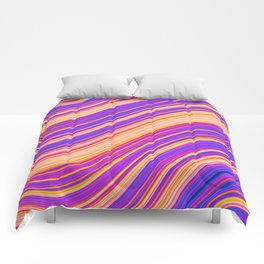 Colorful Wavy Stripes Comforters