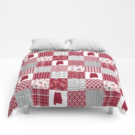 Alabama university crimson tide quilt pattern college sports alumni gifts Comforters