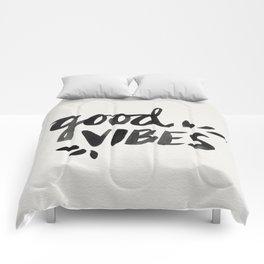 Good Vibes – Black Ink Comforters