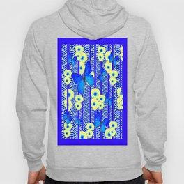 Blue Butterflies Cream-Blue Asia Style Modern Art Hoody