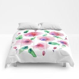 Pretty watercolor Comforters