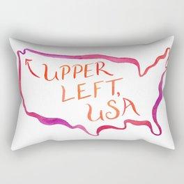 Upper Left, USA - Warm Hues Rectangular Pillow