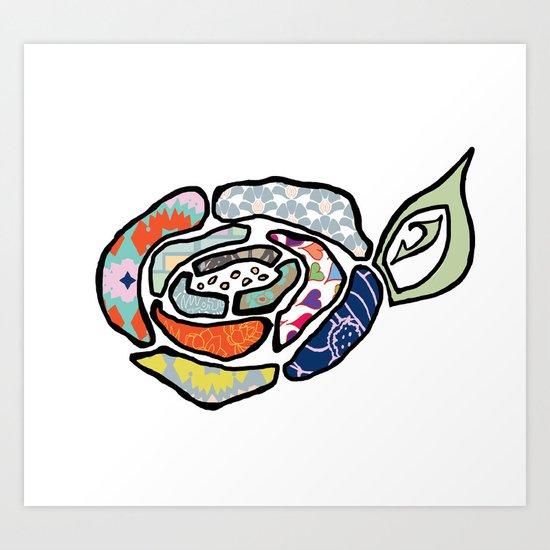 ROSE FUN Art Print
