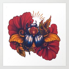 Sacred Scarab Art Print
