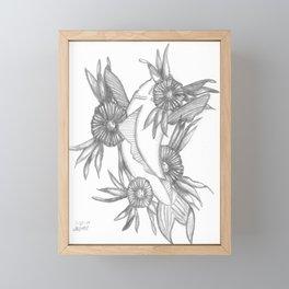 Koi and Flowers Framed Mini Art Print