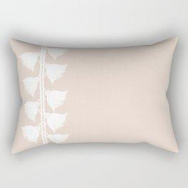 Tassels On The Left- Pastel Beige - Serie Boho Rectangular Pillow