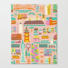 Going to San Francisco Canvas Print