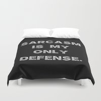 sarcasm Duvet Covers featuring Sarcasm by Alisa Galitsyna