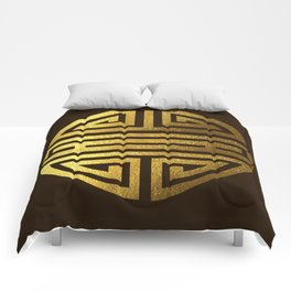 Four blessings Gold Comforters
