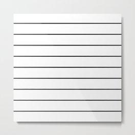 SKINNY STRIPE ((black on white)) Metal Print