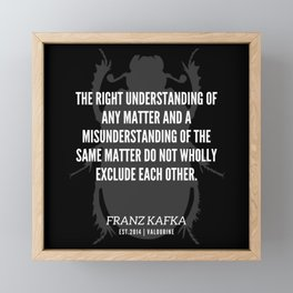 86   |  Franz Kafka Quotes | 190517 Framed Mini Art Print