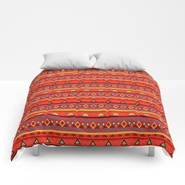 Orange ornament Comforters