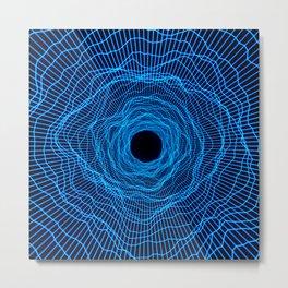 Black hole -futuristic space- Neon blue Metal Print