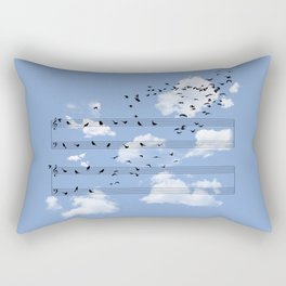 Musical Notes Rectangular Pillow