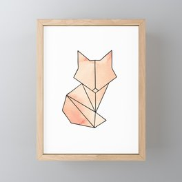 Geometric Fox - Orange Framed Mini Art Print