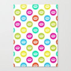 My bright lips Canvas Print