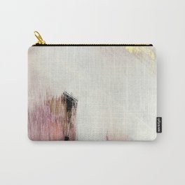 Sunrise [2]: a bright, colorful abstract piece in pink, gold, black,and white Carry-All Pouch