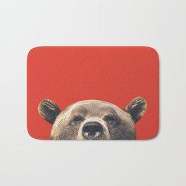 Bear - Red Bath Mat