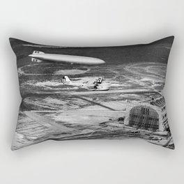 Zeppelin arrival over New Jersey Rectangular Pillow