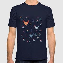 Little Hens (blue) T-shirt