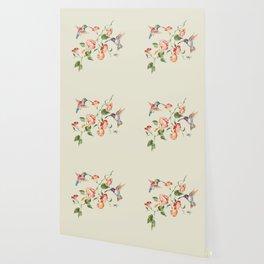 hummingbirds & morning glories Wallpaper