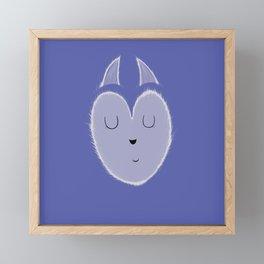 Mama polar fox Framed Mini Art Print