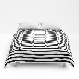White Black Stripe Minimalist Comforters