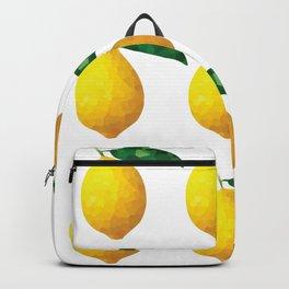 lemon 3x3 pattern, fill, repeating, tiled | elegant Backpack