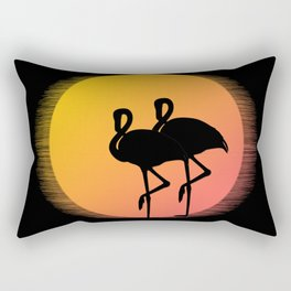 Flamingo Sunset Rectangular Pillow