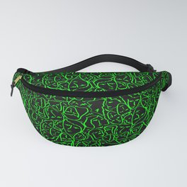 Elio's Shirt Faces Bright Green Neon on Black Fanny Pack