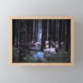 Faces in the Woods mod Framed Mini Art Print