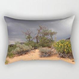 Gambrel Oak Tree with Yucca, Coral Pink Sand Dunes State Park, Utah 2013 Rectangular Pillow