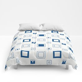 Minimalist Geometric Pattern blue Comforters