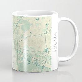 Milan Map Blue Vintage Coffee Mug