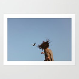 Kelly and the Airplane Art Print