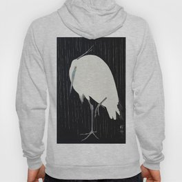 Egret in the rain Hoody