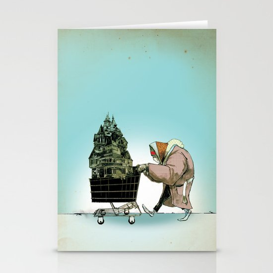"Glue Network Print Series ""Homelessness"" Stationery Cards"