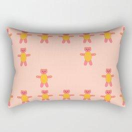 Pink bear print Rectangular Pillow