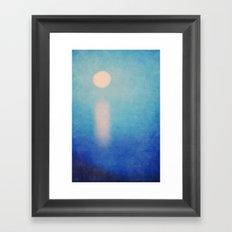 Full Moon Rising Framed Art Print