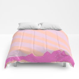 Town Rays Silhouette Grunge Comforters
