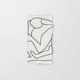 Abstract line art 2 Hand & Bath Towel