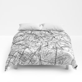 Moscow White Map Comforters