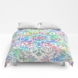 Nature Mandala in Rainbow Hues Comforters