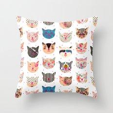 C.C. iv Throw Pillow