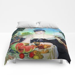MERCHANT'S WIFE AT TEA - BORIS KUSTODIEV Comforters