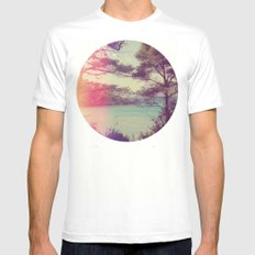 French Beach Mens Fitted Tee White MEDIUM