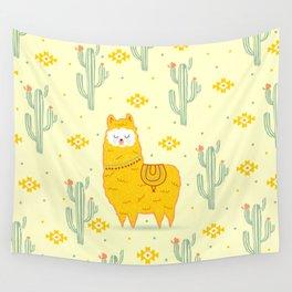 Alpaca summer Wall Tapestry