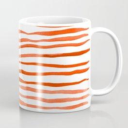 Irregular watercolor lines - orange Coffee Mug